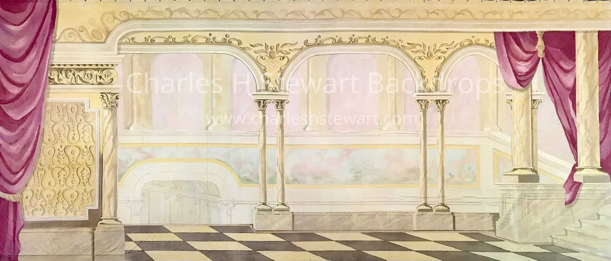 Palace Interior Backdrop Backdrops By Charles H Stewart