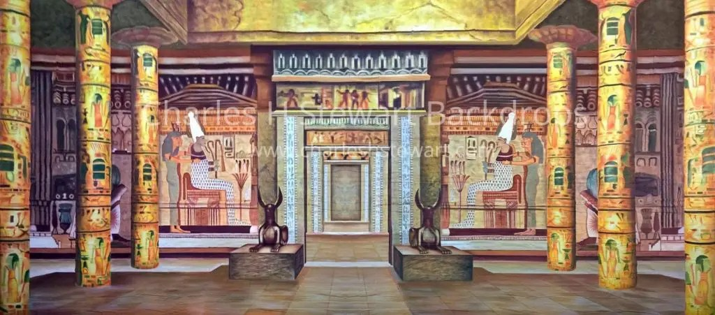 Egyptian Palace Interior Backdrop  Backdrops by Charles H
