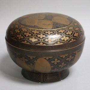 Black Lacquer Gilt Painted Box