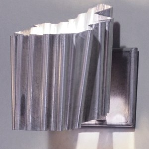 Bronze Wall Sconce with Silver Patina