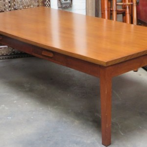 Library Table with 2-Drawers