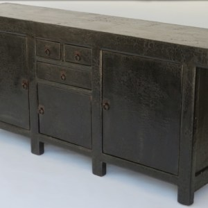 Black Crackle Lacquer Sideboard