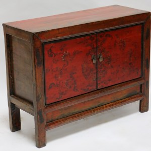 Red Painted Cupboard