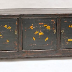 Black Lacquered Painted Sideboard