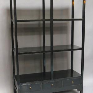 Black Lacquer Bookshelf