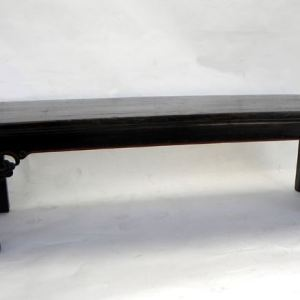 Elm Black Lacquered Bench, Shanxi Province, China, c. 1860