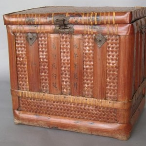 Bamboo Basket with Lid, China, c. 1750