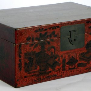 Red Lacquer Paited Trunk, Shanxi Province, China, c. 1880