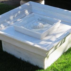White Marble Square Fountain