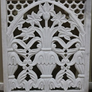Hand Carved White Marble Jali