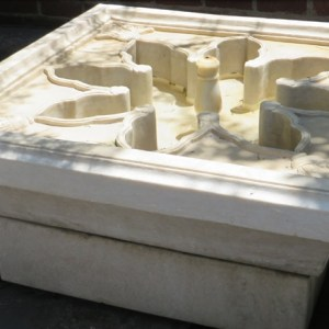 White Marble Fountain with Reservoir