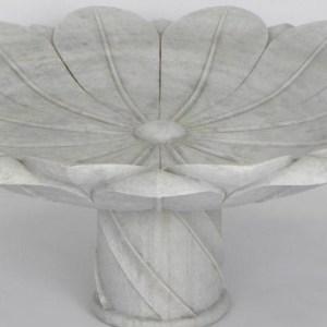 Carved Marble Bird Bath