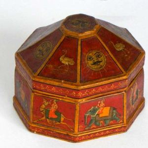 Eight Sided Paper Mache Box