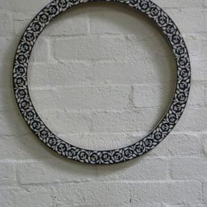 Black and White Inlay Frame with Mirror