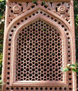 Red Sandstone Jali from Dehli, India