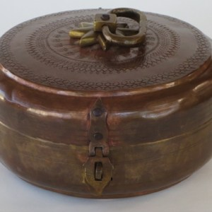 Brass Covered Chapati Box