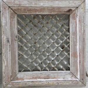 Metal Jali with Wooden Frame