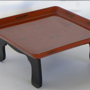 Red and Black Lacquer Tray, Japan