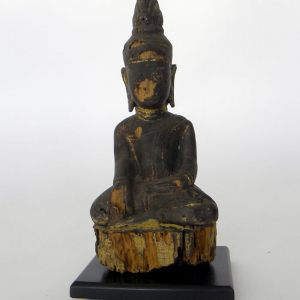 Carved Wooden Buddha from Myanmar