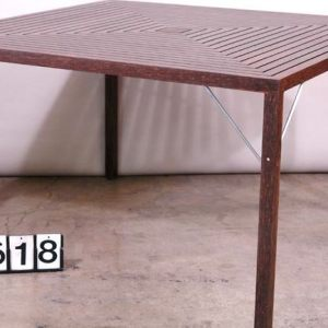 Kitul Wood and Stainless Steel Table.