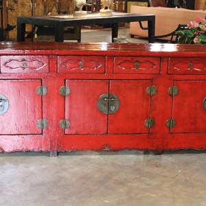 Red Lacquered Sideboard