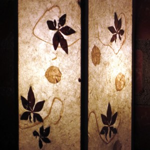 Leaf Paper Wall Sconce
