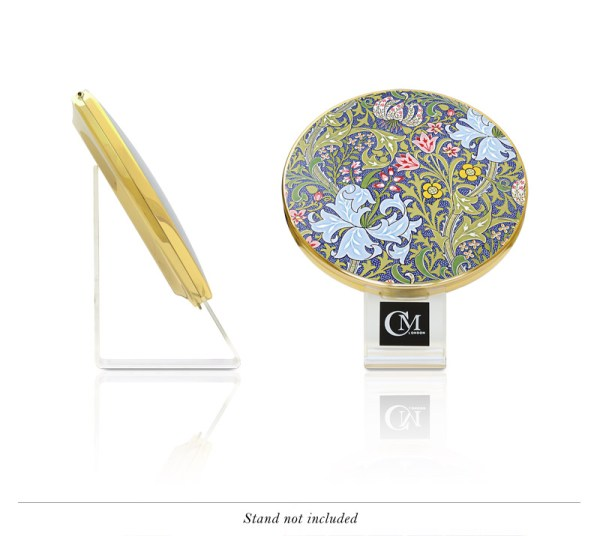 Luxury Golden Lily Compact by Charles Mallory London