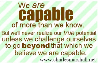 We are capable of more than we know