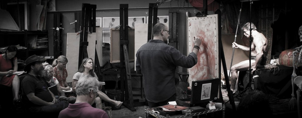 Charles-Miano demo red chalk workshop