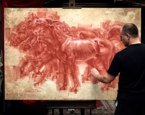 Charles Miano red chalk drawing classes