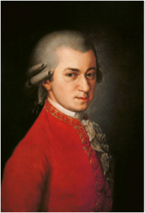 Wolfgang Amadeus Mozart Portrait by Johann Nepomuk della Croce