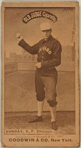 BILLY SUNDAY Chicago White Stockings