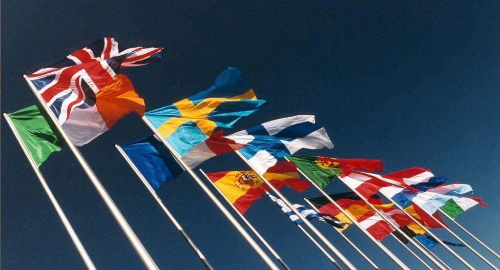 Drapeaux des pays européens