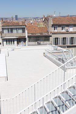 Autre vue du toit terrasse du Lycée Charles Péguy