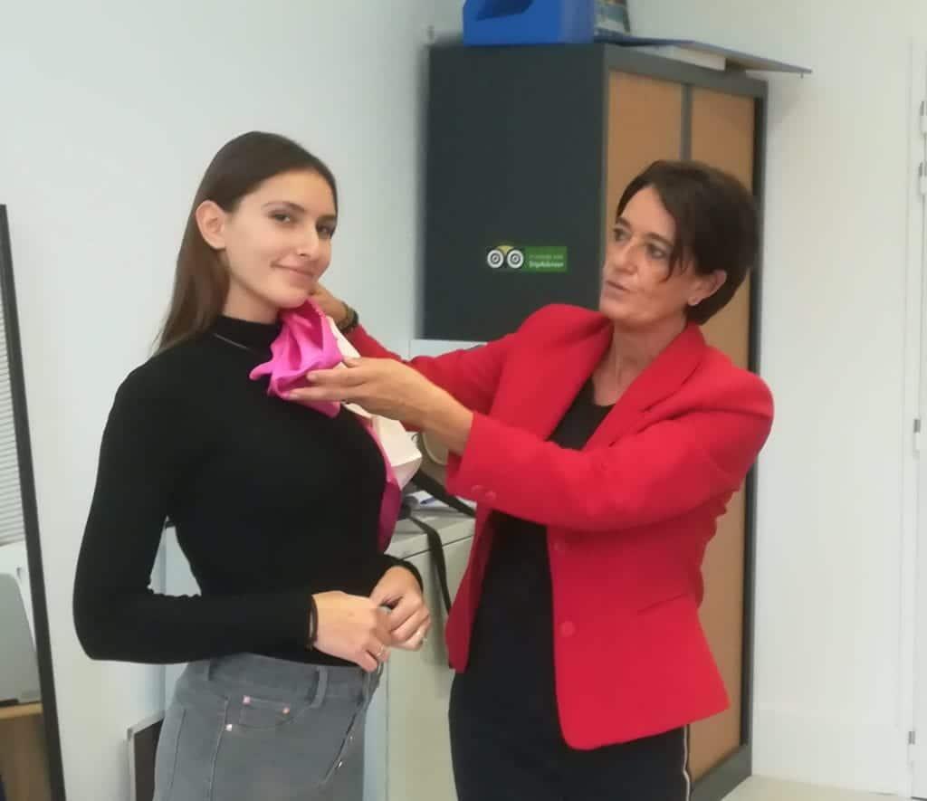 Test de rose fuschia pour Mathilde