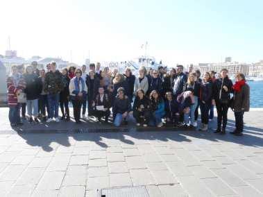 Photo de groupe au Vieux Port