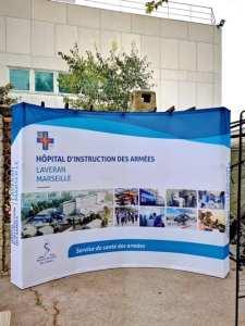 Support de présentation de l'Hôpital d'Instruction des Armées