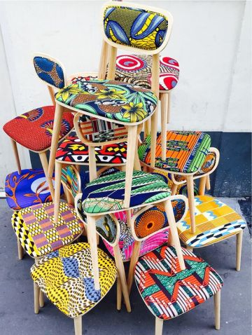 Charles Ray and Coco - blog deco et design - african wax - chairs