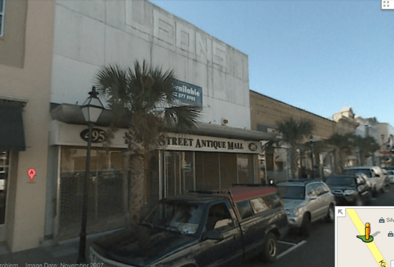 Google-Street-view-Stars-Restaurant-Charleston-SC