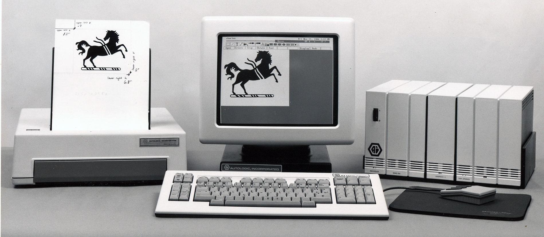 Raster Editor on the Microcomposer Workstation