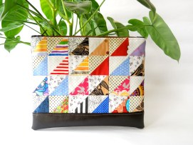 Zippered pouch in scrappy HSTs