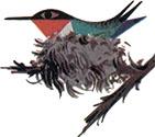 Humming Bird & Nest | Charley Harper Prints | For Sale