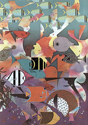 Sea | Charley Harper Prints | For Sale