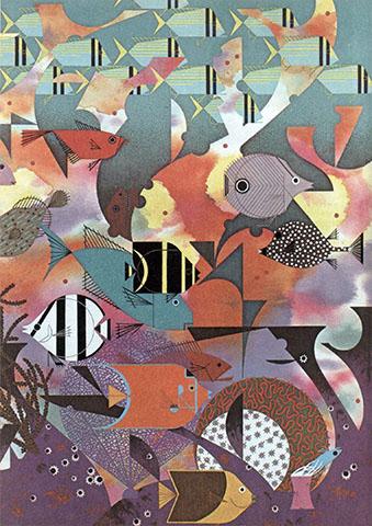 Sea | Charley Harper Prints | For Sale