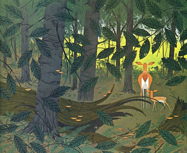 Bambi Woods   Creatures Wild and Tame   Charley Harper Prints   For Sale