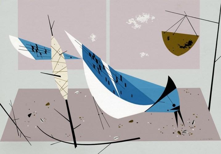Blue Jay or Blue Jay Breakfast | Charley Harper Prints | For Sale