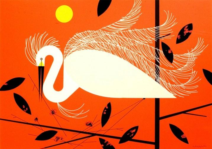 Snowy Egret | Charley Harper Prints | For Sale