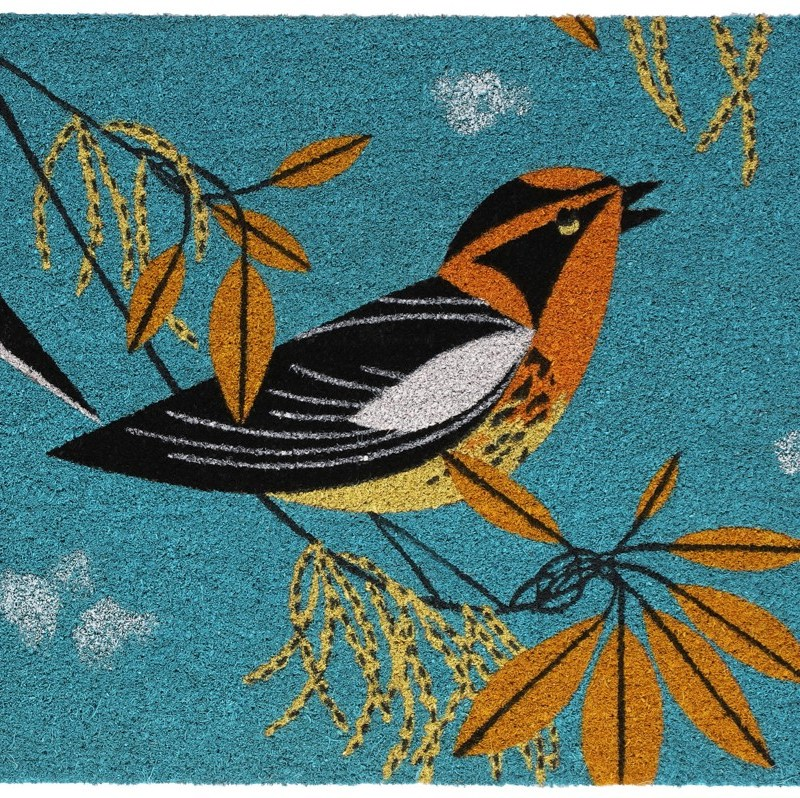 Blackburnian Warbler door mat
