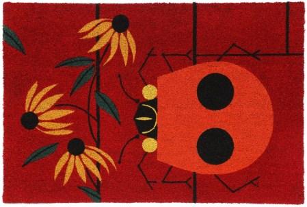 Ladybug door mat