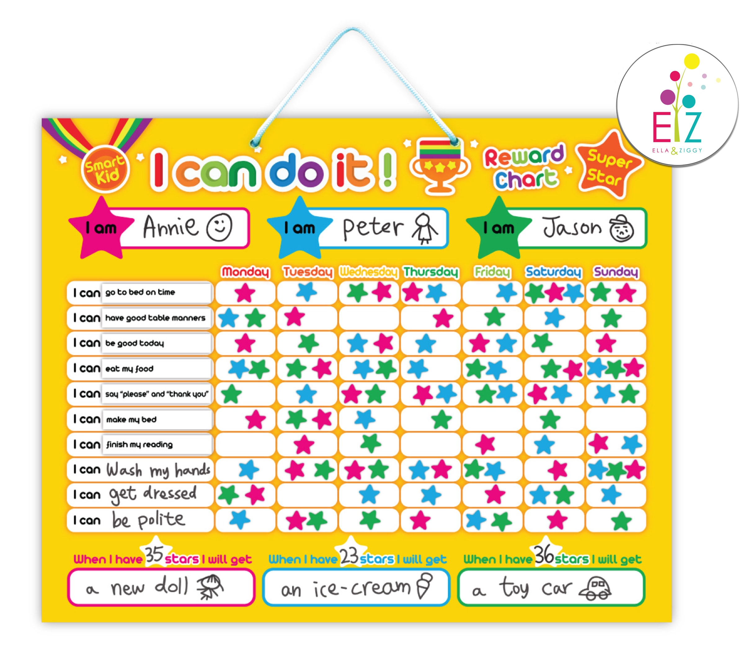 My Kids Magnetic Boards I Can Do It Star Chart